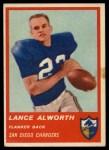 1963 Fleer #72  Lance Alworth  Front Thumbnail