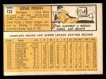 1963 Topps #133  Gene Freese  Back Thumbnail
