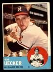 1963 Topps #126  Bob Uecker  Front Thumbnail