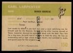 1961 Fleer #150  Carl Larpenter  Back Thumbnail