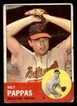 1963 Topps #358  Milt Pappas  Front Thumbnail