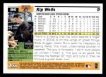 2005 Topps #86  Kip Wells  Back Thumbnail