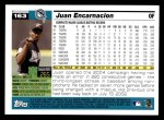 2005 Topps #163  Juan Encarnacion  Back Thumbnail