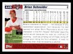 2005 Topps #449  Brian Schneider  Back Thumbnail