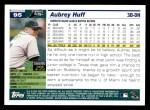2005 Topps #95  Aubrey Huff  Back Thumbnail