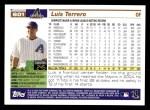 2005 Topps #601  Luis Terrero  Back Thumbnail