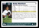 2005 Topps #486  Bobby Madritsch  Back Thumbnail