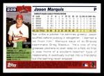 2005 Topps #228  Jason Marquis  Back Thumbnail