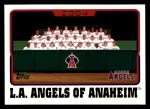 2005 Topps #638   Los Angeles Angels Team Front Thumbnail