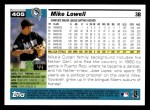 2005 Topps #405  Mike Lowell  Back Thumbnail