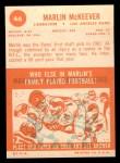 1963 Topps #46  Marlin McKeever  Back Thumbnail