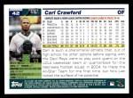 2005 Topps #42  Carl Crawford  Back Thumbnail