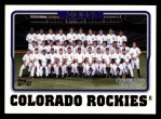 2005 Topps #647   Colorado Rockies Team Front Thumbnail