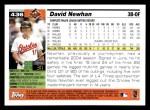 2005 Topps #436  David Newhan  Back Thumbnail