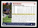 2005 Topps #3  Torii Hunter  Back Thumbnail