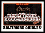 2005 Topps #641   Baltimore Orioles Team Front Thumbnail