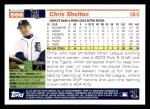 2005 Topps #566  Chris Shelton  Back Thumbnail