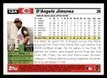 2005 Topps #134  D'Angelo Jimenez  Back Thumbnail