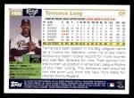 2005 Topps #196  Terrence Long  Back Thumbnail