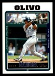 2005 Topps #618  Miguel Olivo  Front Thumbnail