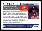 2005 Topps #284  Frank Robinson  Back Thumbnail
