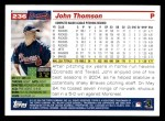 2005 Topps #236  John Thomson  Back Thumbnail