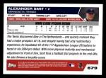 2005 Topps #679  Alexander Smit  Back Thumbnail