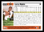 2005 Topps #572  Larry Bigbie  Back Thumbnail
