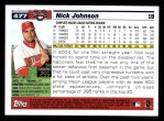 2005 Topps #477  Nick Johnson  Back Thumbnail