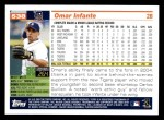 2005 Topps #538  Omar Infante  Back Thumbnail