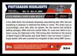 2005 Topps #354   -  Albert Pujols / Jim Edmonds Cards Celebs Back Thumbnail