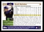 2005 Topps #529  Scott Hairston  Back Thumbnail