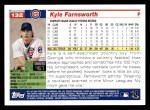 2005 Topps #132  Kyle Farnsworth  Back Thumbnail