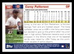 2005 Topps #181  Corey Patterson  Back Thumbnail