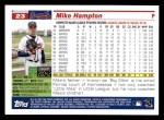 2005 Topps #23  Mike Hampton  Back Thumbnail
