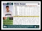 2005 Topps #497  Richie Sexson  Back Thumbnail
