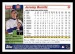 2005 Topps #503  Jeromy Burnitz  Back Thumbnail