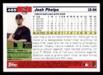 2005 Topps #469  Josh Phelps  Back Thumbnail