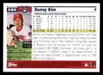 2005 Topps #586  Sunny Kim  Back Thumbnail