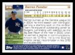 2005 Topps #316  Darren Fenster  Back Thumbnail