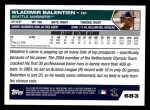 2005 Topps #683  Wladimir Balentien  Back Thumbnail