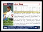 2005 Topps #162  Juan Cruz  Back Thumbnail