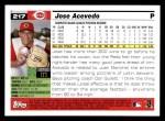 2005 Topps #217  Jose Acevedo  Back Thumbnail