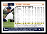 2005 Topps #507  Marcus Thames  Back Thumbnail