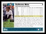 2005 Topps #472  Guillermo Mota  Back Thumbnail