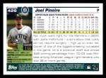 2005 Topps #426  Joel Pineiro  Back Thumbnail