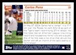 2005 Topps #411  Carlos Pena  Back Thumbnail