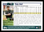 2005 Topps #264  Toby Hall  Back Thumbnail