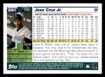2005 Topps #261  Jose Cruz Jr.  Back Thumbnail