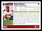 2005 Topps #511  Endy Chavez  Back Thumbnail